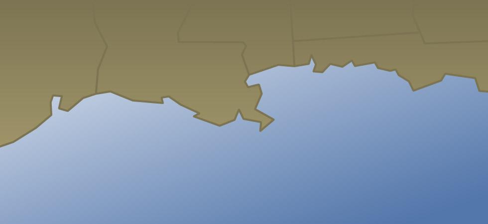Gulf Coast map